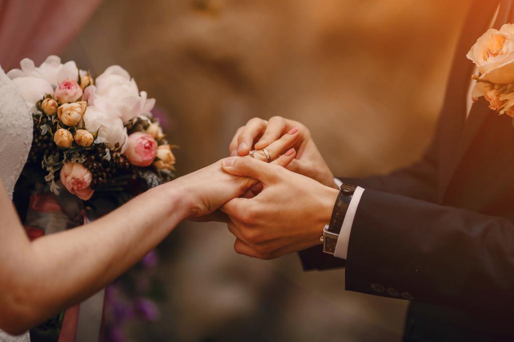 Hochzeits Ringwechsel
